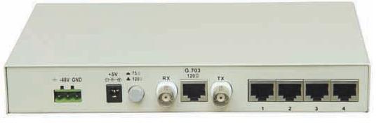 产品简介: FE1/8RS232-485-422协议转换器提供ITU-T G.703标准E1接口与RS232接口转换,为网络中不同接口设备之间的通信提供安全、无缝的连接。本接口转换器的数据接口模式为DCE,可与DTE或DCE设备对接。8RS232/485/422通道可以传输异步从0-57600波特率自适应的RS232/485/422串口数据。主要应用于网络监控、工业控制、环境监测等。